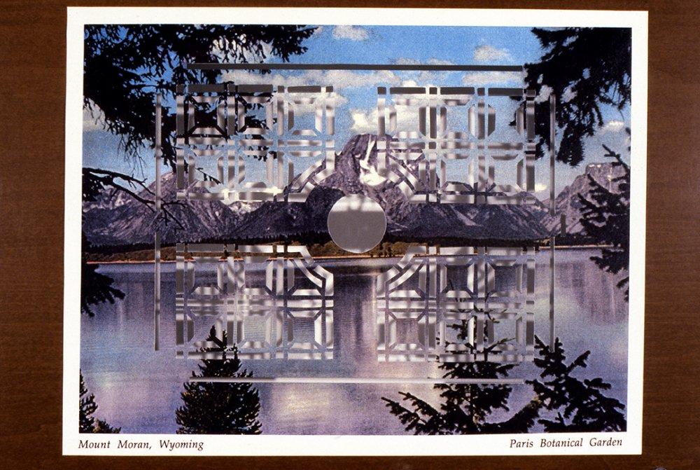Mount Moran, Wyoming/Paris Botanical Garden, 1996, Detail